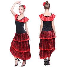 ladies spanish flamenco costume fancy dress up dance skirt