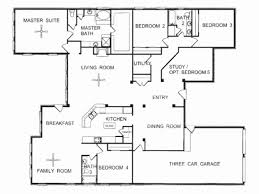 one story floor plan new one story 4 bedroom house floor plans house plan