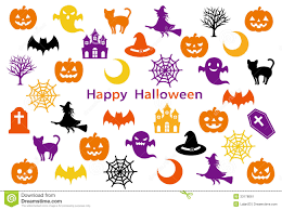 free halloween icon halloween party card stock image image 33178061