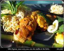 cuisiner une selle d agneau selle d agneau à la sauce curry litchis menthe fraîche raisins