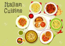 cuisine italienne pates icône de cuisine italienne de pâtes avec sauce salami et pesto nids
