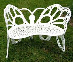 Butterfly Chairs Outdoor Amazon Com Flower House Fhbfb06w Butterfly Bench White