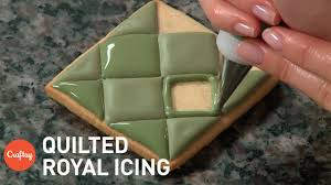 Decorating With Royal Icing Quilted Royal Icing Effect Cookie Decorating Tutorial With Amber