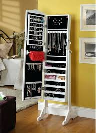 Wooden Jewelry Armoire Medium Size Of Over The Door 48 Jewelry Armoire With Mirror Mirror