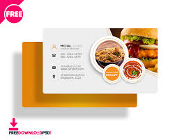 Food Business Card Template food business cards templates free best templates ideas