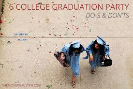 ideas for college graduation party 6 college graduation party dos and don ts the modern austen