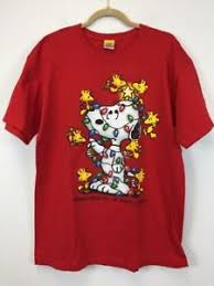 snoopy christmas shirts peanuts unisex large snoopy christmas friends brighten the