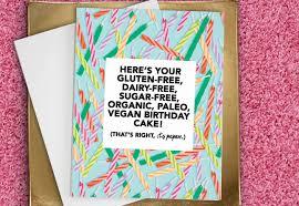 free birthday cards for her vegan birthday card funny birthday card paleo organic