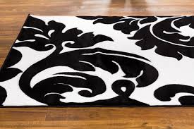 Brumlow Mills by Well Woven Melody Vines Damask Black White Area Rug U0026 Reviews
