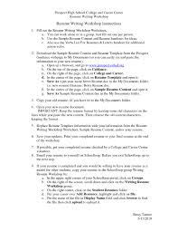 college resume templates college resume example math worksheet