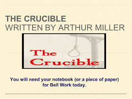 the crucible written by arthur miller ppt download