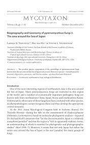 biogeography and taxonomy of pyrenomycetous fungi 3 the area
