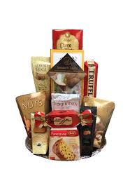 delivery gift baskets snacker s gourmet gift basket by pompei baskets