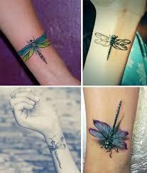 32 stylish wrist dragonfly tattoos