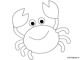Cute Crab Coloring Page Crab Coloring Page