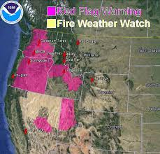 a map of oregon fires flag warnings and wildfire smoke map july 31 2013 wildfire