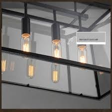 Rectangular Iron Chandelier Aliexpress Com Buy Loft Retro Glass Box Iron Chandelier Lamp