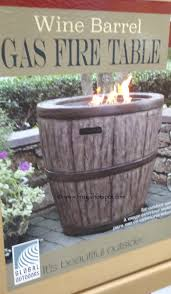 global outdoors fire table costco global outdoors 27 wine barrel gas fire table 199 99