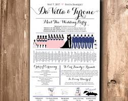 wedding ceremony program fans wedding program fan etsy