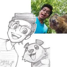 illustrator turns strangers into anime characters bored panda