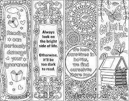 printable coloring bookmark templates with four designs plus