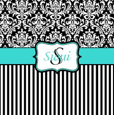 Blue Damask Shower Curtain Blue Black And White Damask Shower Curtain Monogrammed