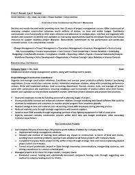 construction resume exles construction coordinator or project manager resume template