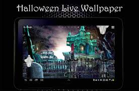 halloween background with house halloween live wallpaper android apps on google play