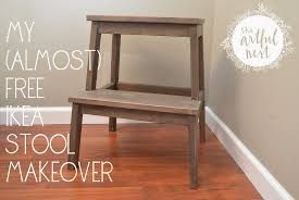 the artful nest my almost free ikea stool makeover