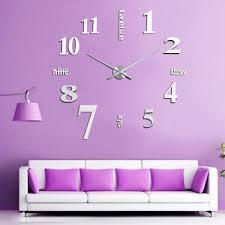 new fashion diy digital large wall clock big watch home decor