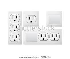 electrical socket type b switch power stock vector 714856699