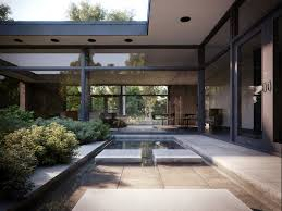 l shaped towhnome courtyards 145 best mid century atrium courtyard house images on pinterest