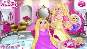 design hair game barbie hair salon video game barbie s princess hair salon youtube