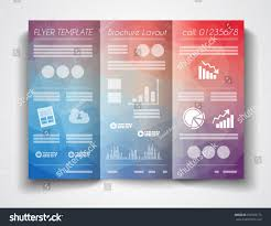 Tri Fold Program Vector Tri Fold Brochure Template Design Stock Vector 258709175