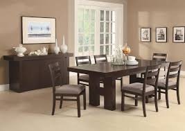 coaster dabny 7 piece rectangular dining table set with pull out