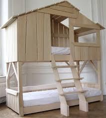 Fort Bunk Bed Bedroom Treehouse Loft Bed Diy Treehouse Bed Fort Loft Bed