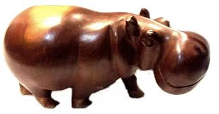 hand carved hippo african hand carved home decor ornament ethnic