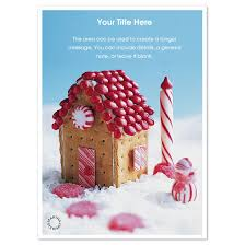 E Card Designer Peppermint Gingerbread House Invitations U0026 Cards On Pingg Com