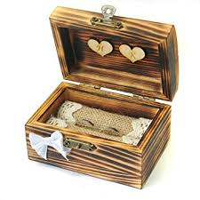 wedding photo box personalized wedding ring box rustic ring bearer