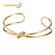simple gold bangle bracelet images Fahion tie simple gold bangles bracelects for women round jpg