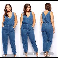 plus size denim jumpsuit plus size denim jumpsuits asos asos plussize denim jumpsuit from