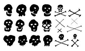 skull and crossbones vector pack