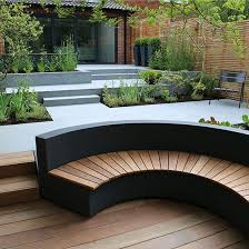 Concrete Curved Bench - bench wonderful concrete landscape benches outdoor phoenix in