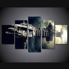 chambre de d馗ompression hd imprimé vaisseau spatial groupe peinture décoration de la