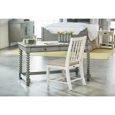 Joanna Gaines Products Dove Grey Desk With Spool Legs By Magnolia Home By Joanna Gaines