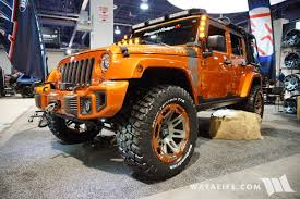 orange jeep wrangler unlimited for sale 2016 sema rugged ridge orange jeep jk wrangler unlimited