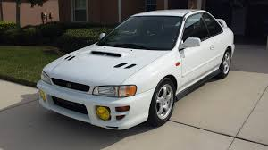 subaru coupe rs fs usa fl 1999 impreza 2 5rs coupe mint subaru impreza gc8