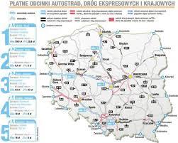 płatne autostrady w polsce a1 a2 a4 ile wynosi myto mapa