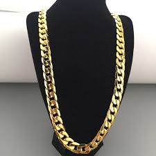wholesale jewelry necklace chains images 12mm boys mens chain cut curb chain yellow gold filled bling jpg