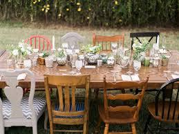 Outdoor Backyard Wedding Handcrafted Mismatched Backyard Wedding Ruffled